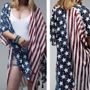Patriotic American Flag Kimono